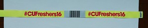 BarCode Woven Wristbands with Consecutive numbers