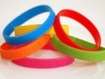 STOCK Silicone Wristbands No Message. Adult size only. 1 quantity = 50 of one color.